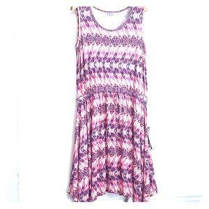 NWTs AVENUE • Jersey Asymmetrical Ikat Dress